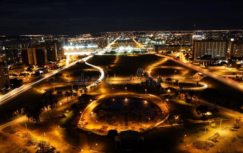 Brasilia por noche imágenes de archivo libres de regalías