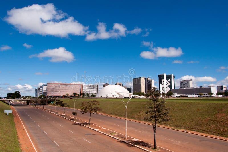 Brasilia Stad, de Hoofdstad van Brazilië stock foto's