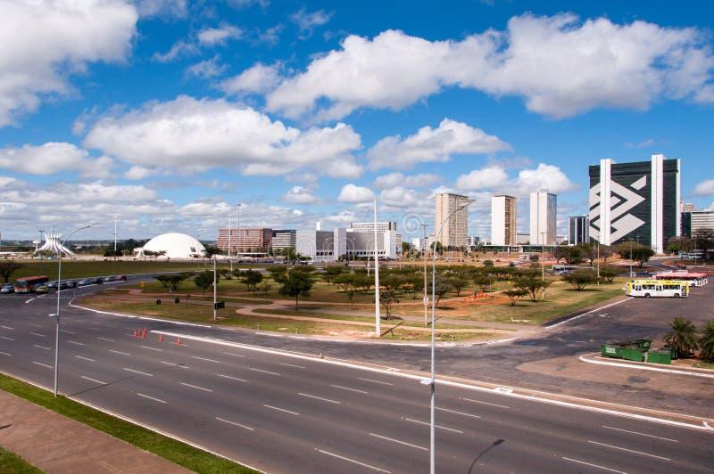 Brasilia Stad, de Hoofdstad van Brazilië royalty-vrije stock afbeelding