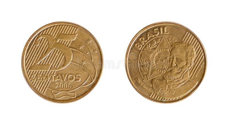 Brasilian coin stock photography