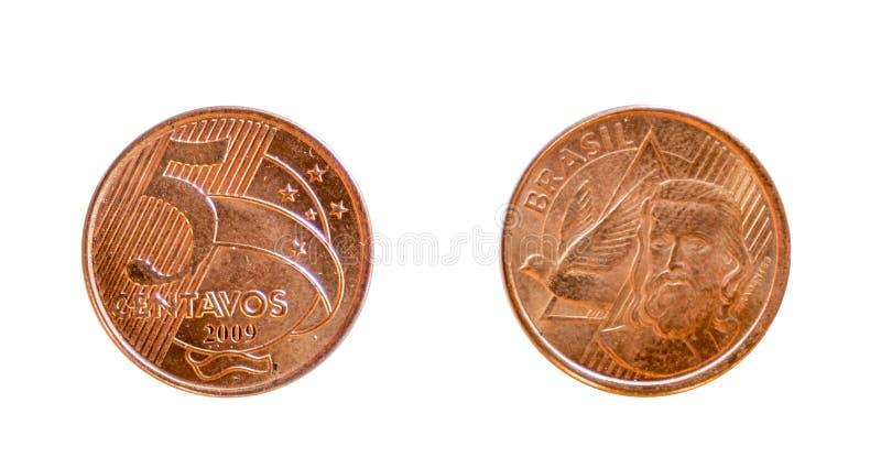 Brasilian coin stock image
