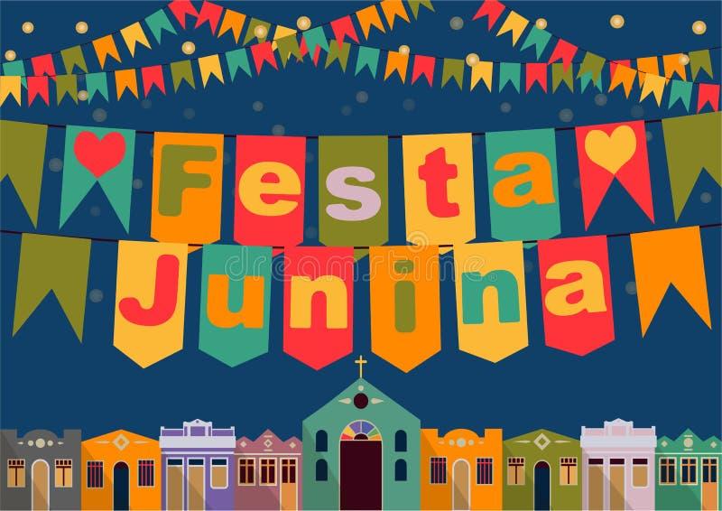 Brasilian det Juni partiet royaltyfri illustrationer