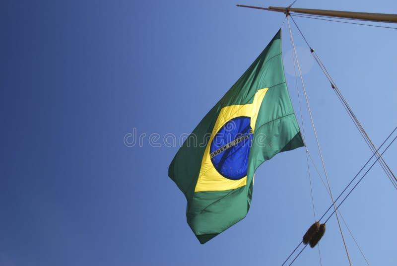Brasilian flagga arkivbilder