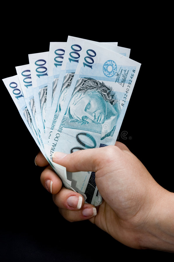 Download Brasilian real notes stock image. Image of fortune, cent - 3321625