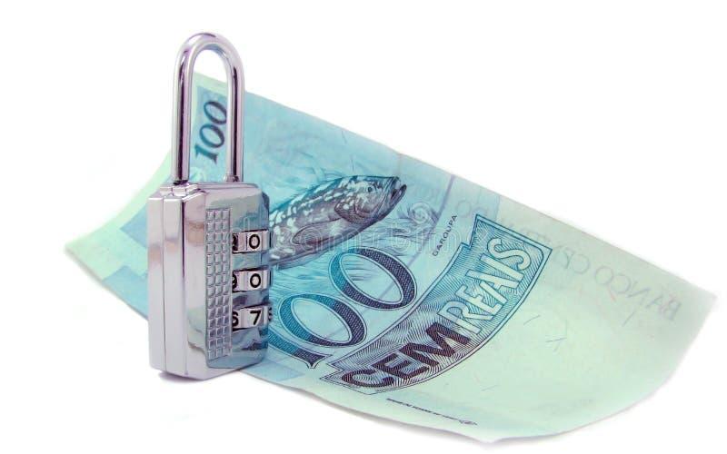 brasilian verklig stängd padlock för pengar 100 royaltyfria bilder