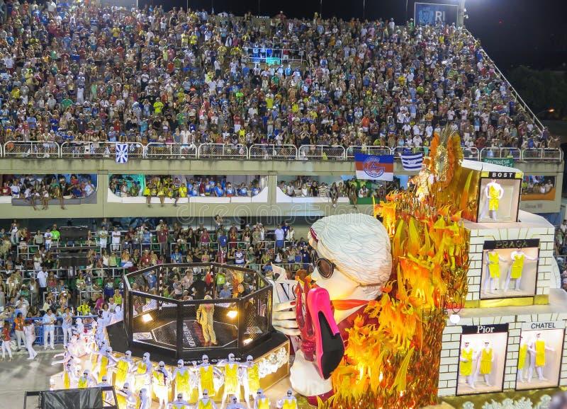 BrasilianColoful karneval i Rio De Janeiro royaltyfri fotografi