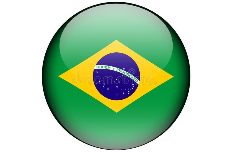 Brasilianische Flagge lizenzfreie stockbilder