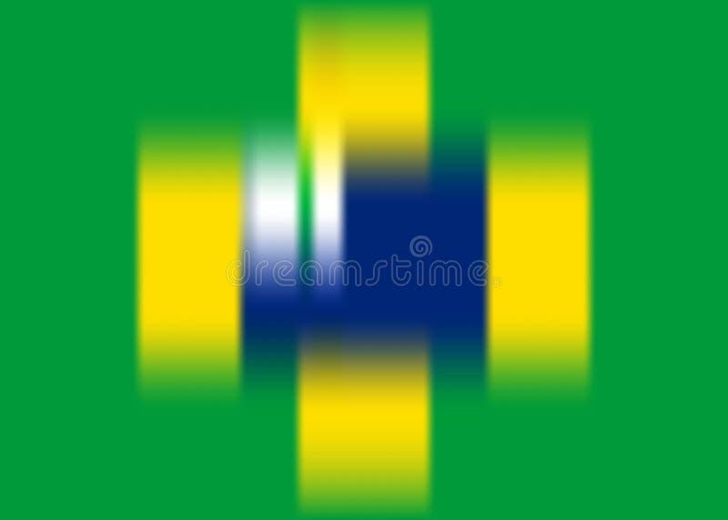 Brasilianische Flaggenkonzeptschablone, Vektor unscharfer Hintergrund Brasilien-Vektor-Fahne Meisterschaft 2019 Conmebol Copa Ame vektor abbildung