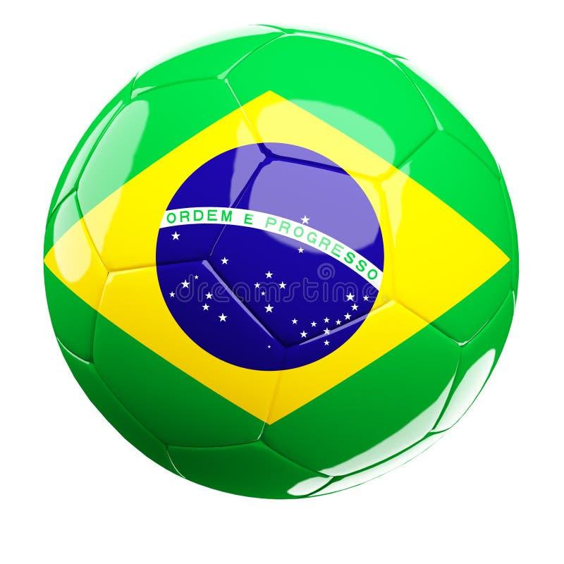 Brasilianische Fußballkugel vektor abbildung