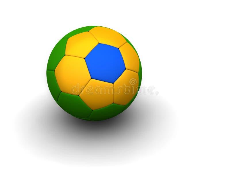 Brasilianische Fußballkugel lizenzfreies stockbild
