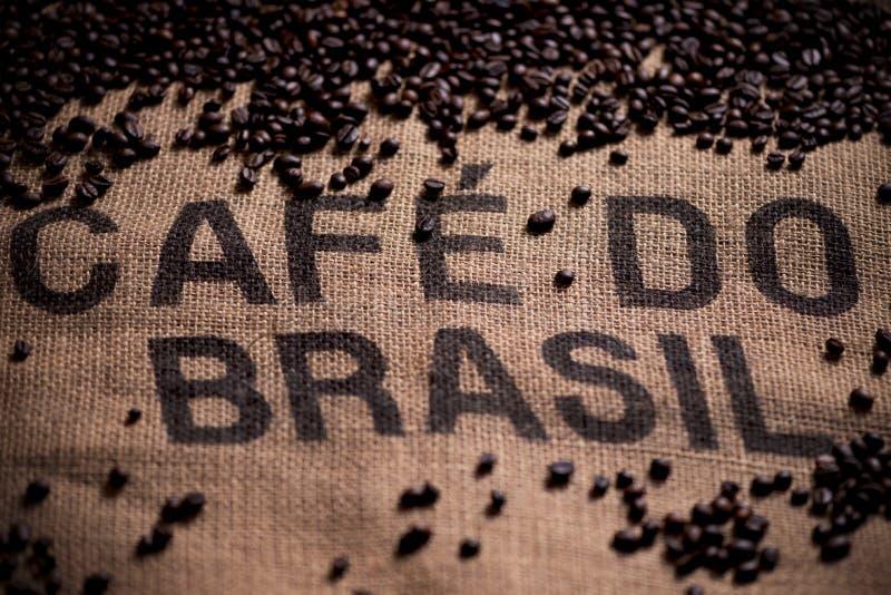 Brasilianische Kaffeetasche stockbilder