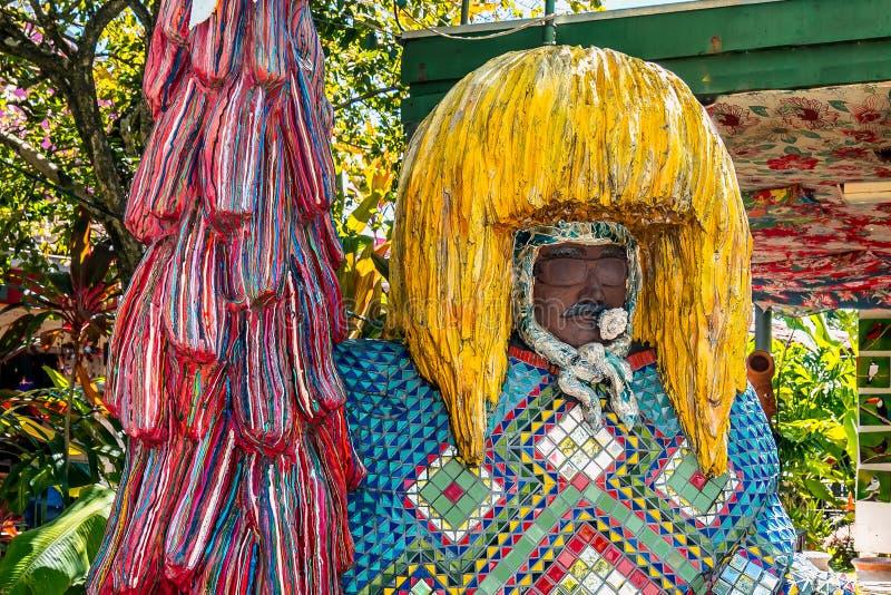 Brasilianische Karneval Maracatu-Dekoration in Olinda, Pernambuco Brasilien lizenzfreies stockbild