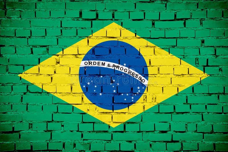 Brasilianische Markierungsfahne lizenzfreie stockbilder