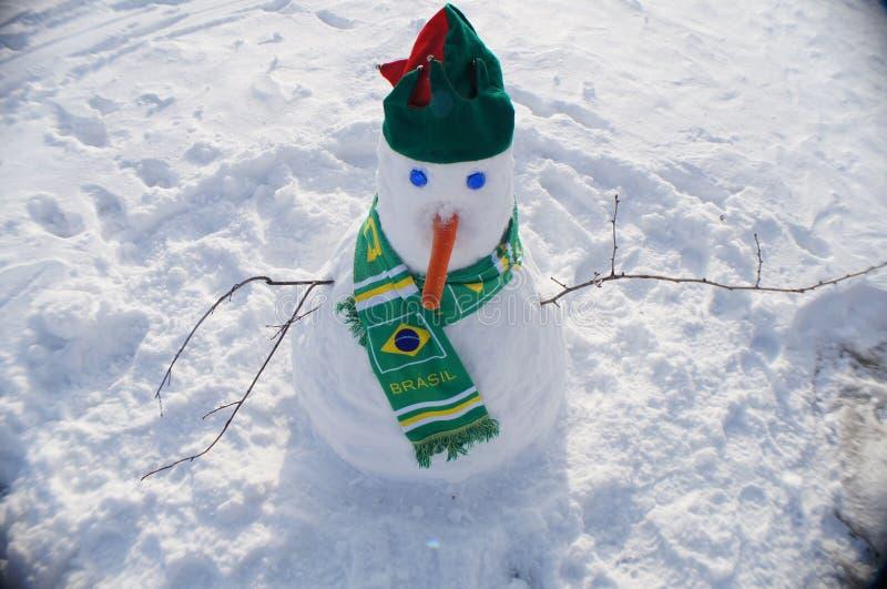 Brasilianischer Schneemann stockbilder