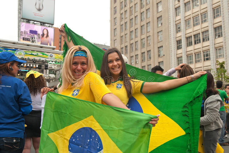 Brasilianischer Tag in Toronto lizenzfreie stockfotos