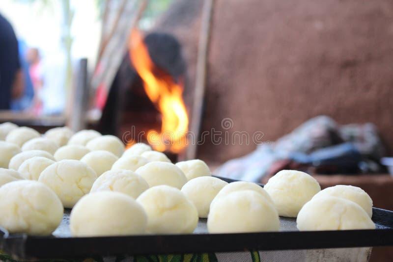 Brasilianisches Käsebrot stockfoto