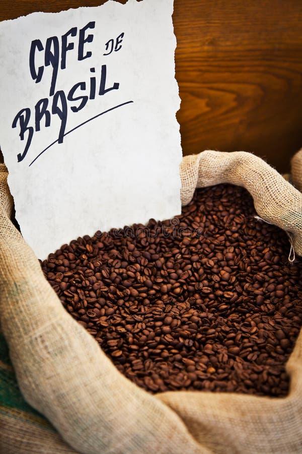 Brasilianisches Kaffee-Sackleinen lizenzfreie stockfotografie