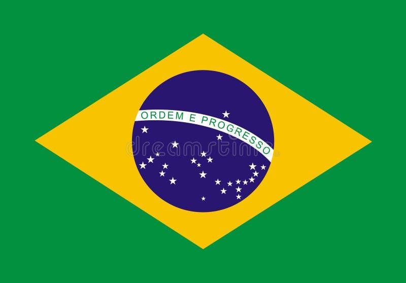 brasiliansk flagga royaltyfri illustrationer