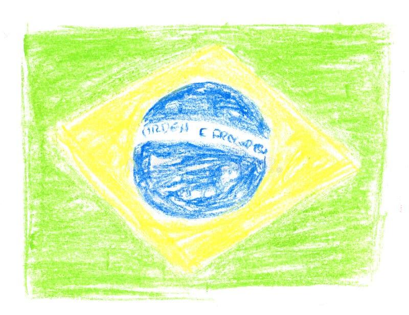 brasiliansk flagga royaltyfria bilder