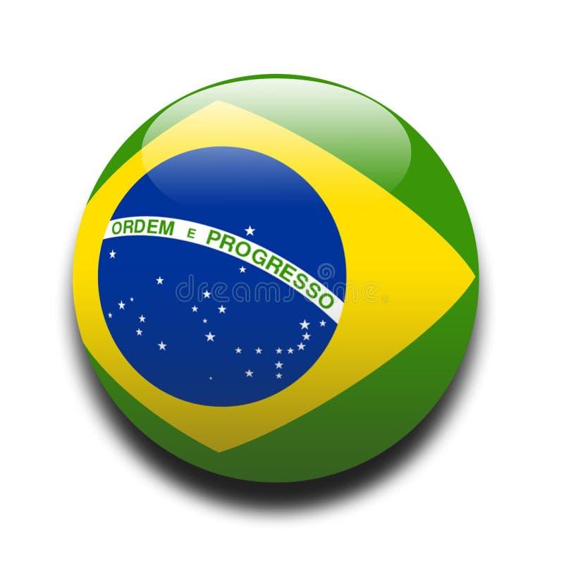 brasiliansk flagga vektor illustrationer