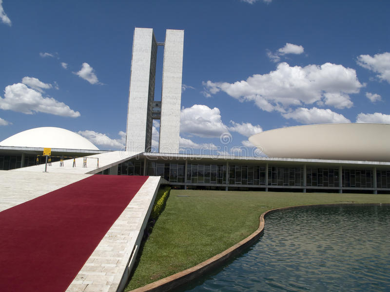 brasiliansk kongressnational royaltyfria bilder