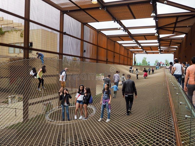 Brasiliansk paviljong på EXPON, världsutläggningen arkivfoton