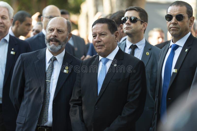Brasiliansk president Jair Bolsonaro arkivfoton