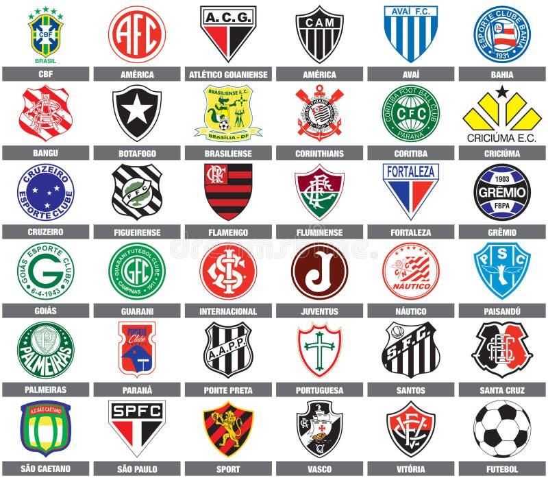 brasilianska fotbolllag stock illustrationer