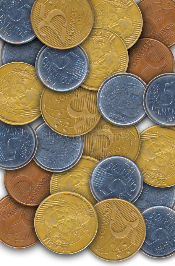 brasilianska pengar arkivbild