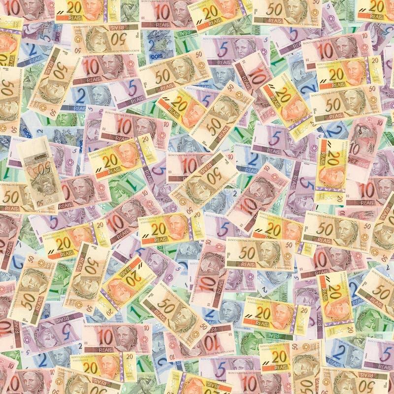 brasilianska pengarreais arkivbild