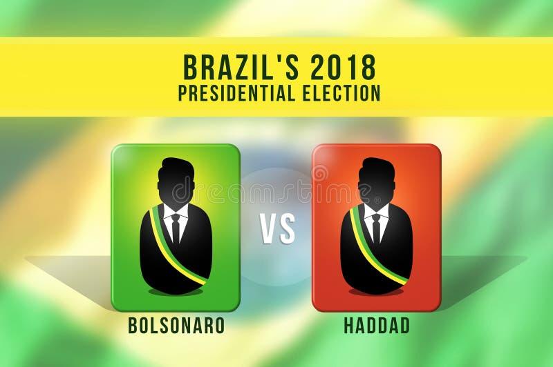 Brasilianska presidentval i 2018 royaltyfri illustrationer