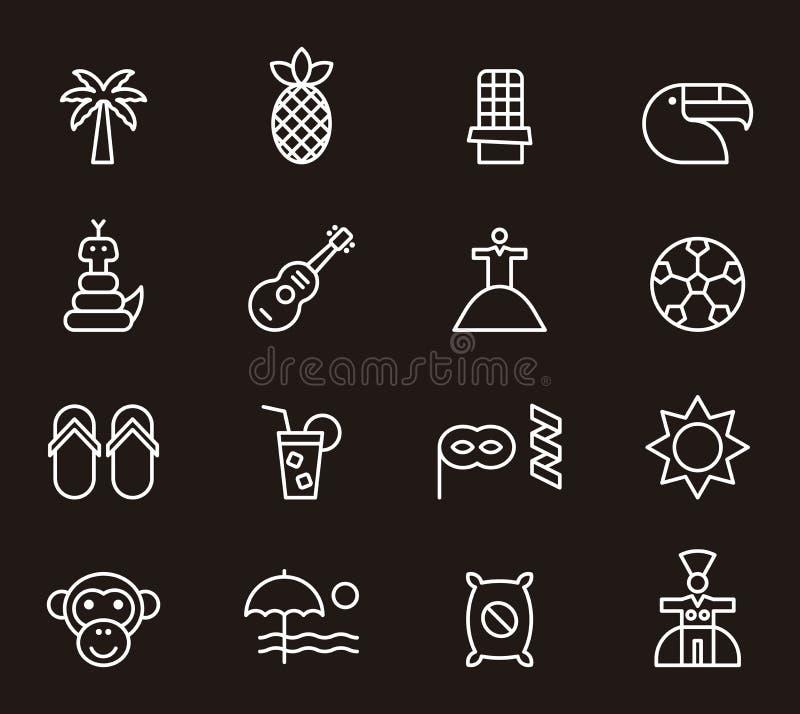 Brasilianska symboler stock illustrationer
