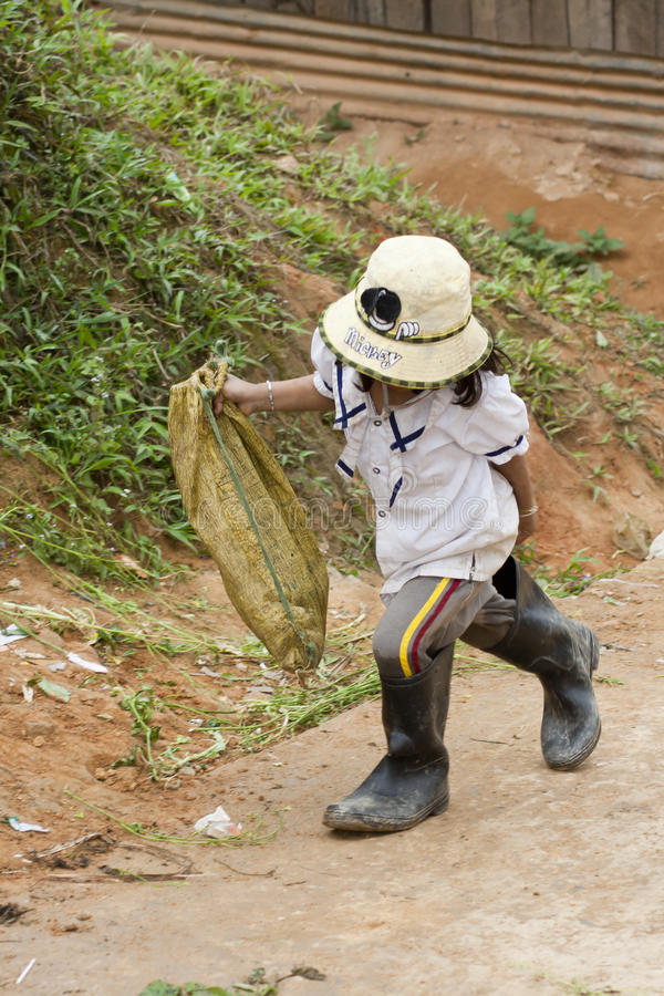 brasilianskt barnarbete royaltyfri bild