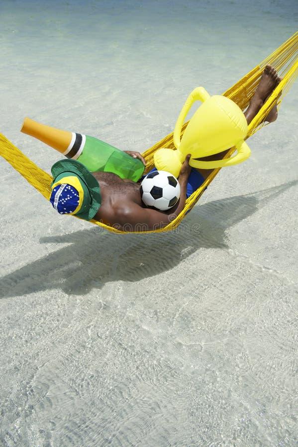 Brasilianskt drömma av den vinnande fotbollmästerskapet royaltyfri foto