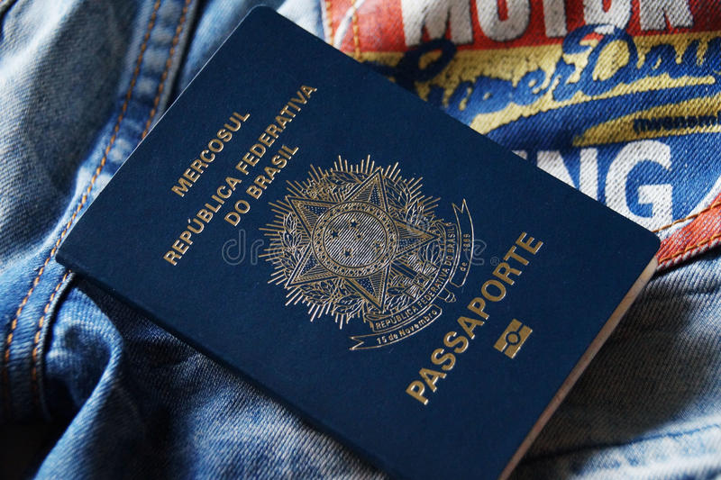 Brasilianskt pass arkivfoto