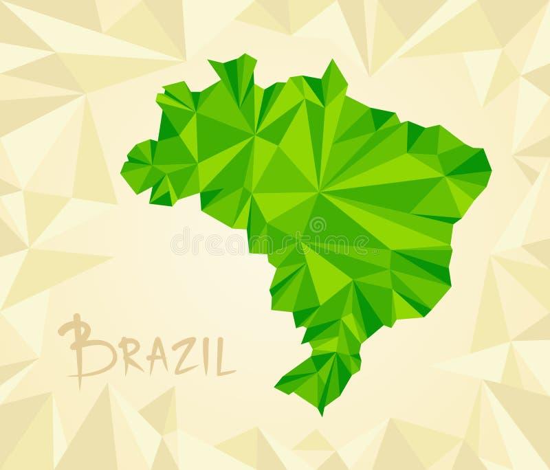 Brasilien översikt också vektor för coreldrawillustration stock illustrationer