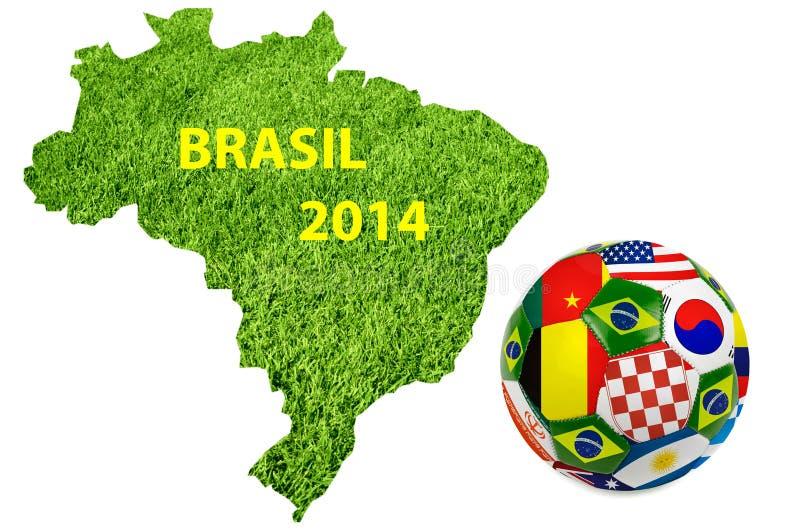 Brasilien 2014 vektor illustrationer