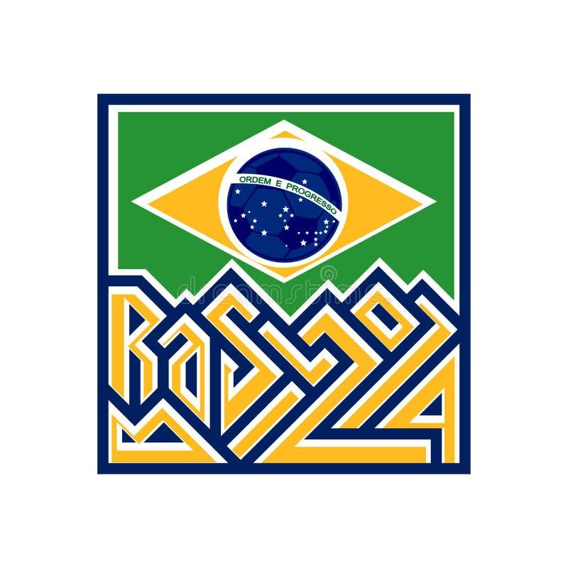 Brasilien 2014 stock illustrationer