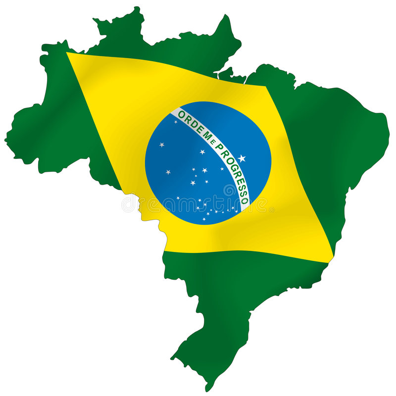Brasilien stock illustrationer