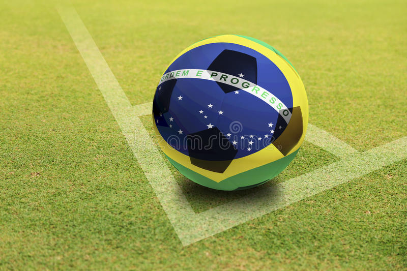 Brasilien-Ball lizenzfreie stockfotos