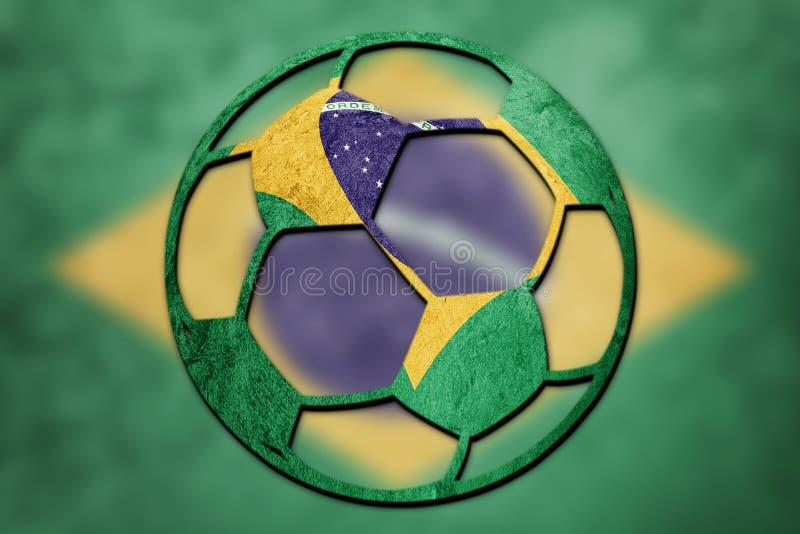 Brasilien för medborgare för fotbollboll flagga Brasiliansk fotbollboll royaltyfri foto