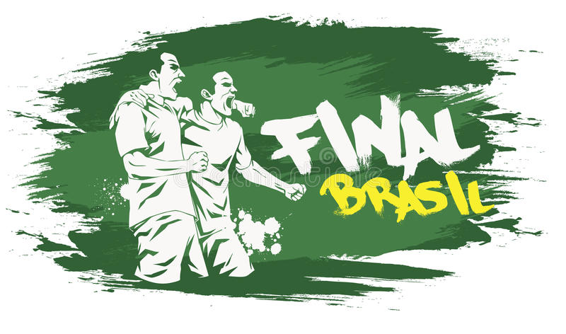 Brasilien final stock illustrationer