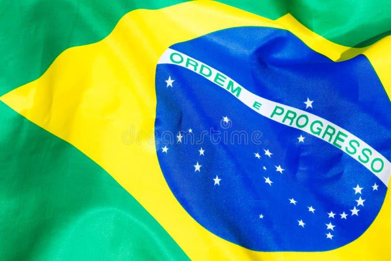 Brasilien flagga fotografering för bildbyråer