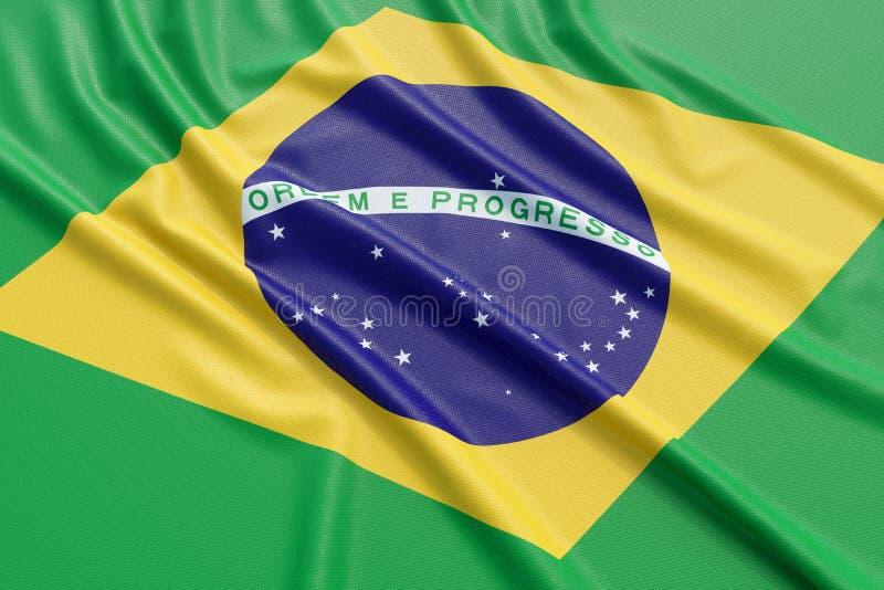 Brasilien flagga vektor illustrationer