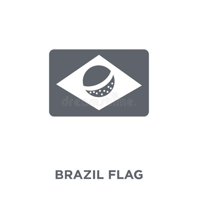 Brasilien-Flaggenikone von der brasilianischen Ikonensammlung stock abbildung