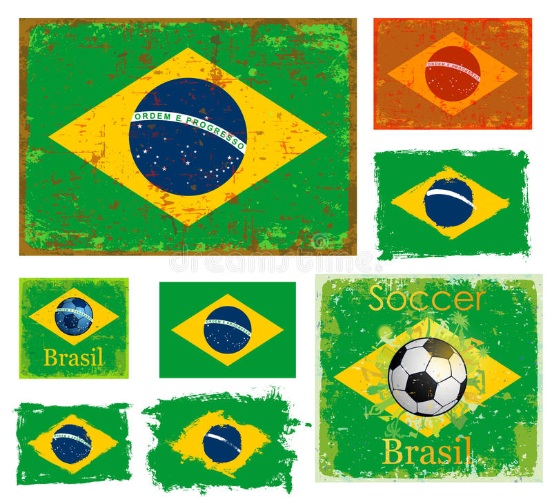 Brasilien-Flaggensammlung lizenzfreie abbildung