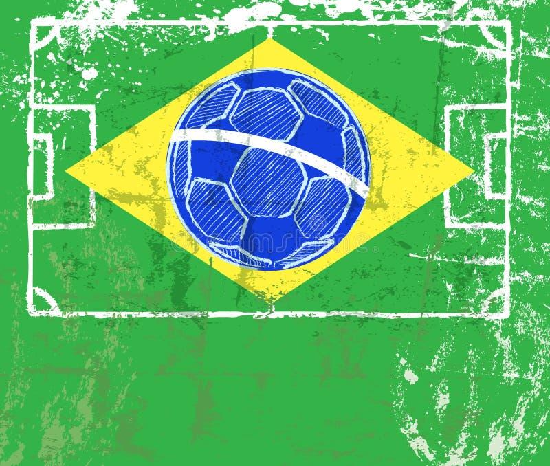 Brasilien 2014, fotbollcocept vektor illustrationer