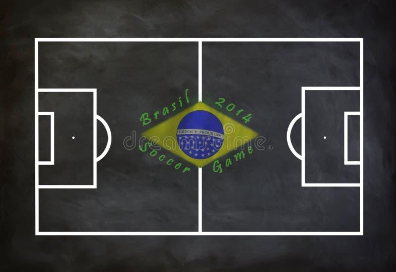 Brasilien fotbolllek 2014 royaltyfri illustrationer