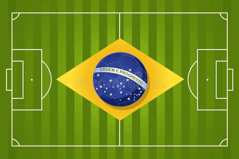 Brasilien-Fußballflagge 2014 stock abbildung