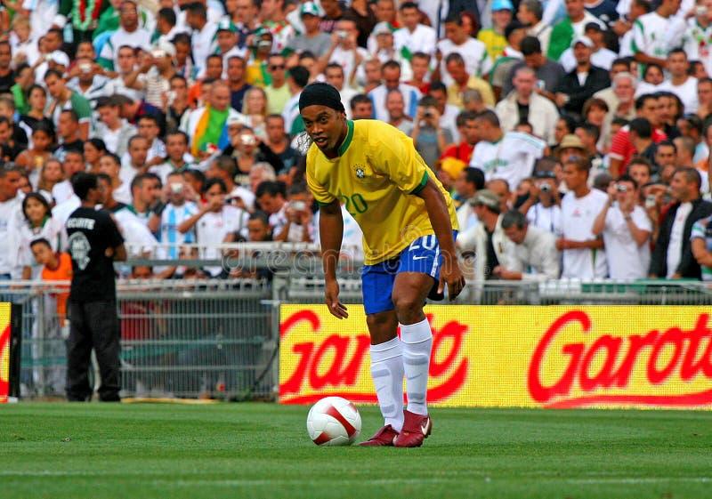Brasilien gegen Algerien stockfoto